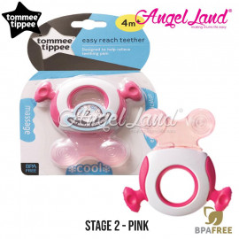 image of Tommee Tippee CTN Triple Action Stage 2 Teether - 426452/38 - Pink