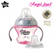 image of Tommee Tippee Closer to Nature Transition Cup 150ml (4-7m+) - Pink