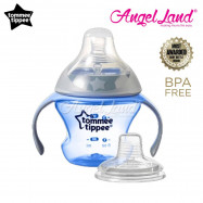 image of Tommee Tippee Closer to Nature Transition Cup 150ml (4-7m+) - Blue