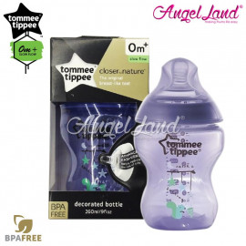 image of Tommee Tippee Closer To Nature Tinted Bottle 260ML/9oz Single Pack - Purplish 422579/38