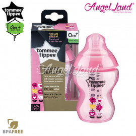 image of Tommee Tippee Closer To Nature Tinted Bottle 260ML/9oz Single Pack - Pink 422571/3.8
