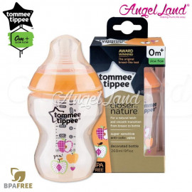 image of Tommee Tippee Closer To Nature Tinted Bottle 260ML/9oz Single Pack - Orange 422574/38