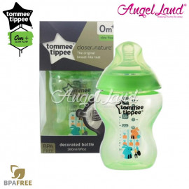 image of Tommee Tippee Closer To Nature Tinted Bottle 260ML/9oz Single Pack - Lime Green 422572/38