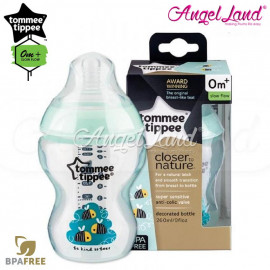 image of Tommee Tippee Closer To Nature Tinted Bottle 260ML/9oz Single Pack - Green 422572/38