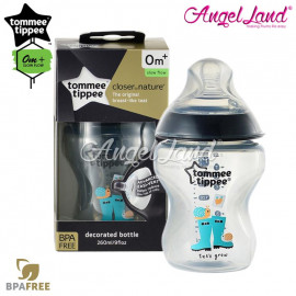 image of Tommee Tippee Closer To Nature Tinted Bottle 260ML/9oz Single Pack - Black 422575/38