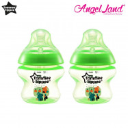 image of Tommee Tippee Closer to Nature Tinted Bottle 150ml (5oz) x2 - Lime Green