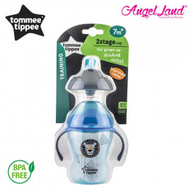 image of Tommee Tippee 2 Stage Easy Drink Cup 230ml (7M+) - 447143/38, 447144/38, 47145/38 - blue - 447145/38