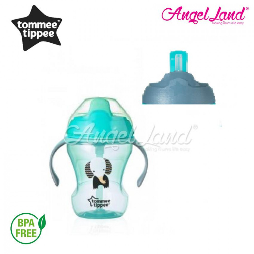 Tommee Tippee 2 Stage Easy Drink Cup 230ml (7M+) - 447143/38, 447144/38, 47145/38 - green - 447144/38
