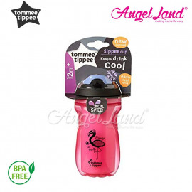 image of Tommee Tippee Active Insulated Sippee Cup 12m+ 260ml - pink - 447130/38