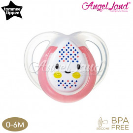 image of Tommee Tippee Closer to Nature Night Time Soother- 1pk 0-6M - Pink