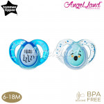 Tommee Tippee Closer to Nature Night Time Soother with Hygienic Case (2 PC) 6-18M - Blue