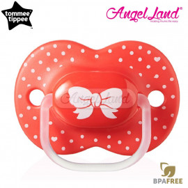 image of Tommee Tippee Little London Soother 6-18m (Single) 433412/38 Red Ribbon