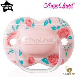 image of Tommee Tippee Little London Soother 0-6m (Single) 433410/38 Pink Rose