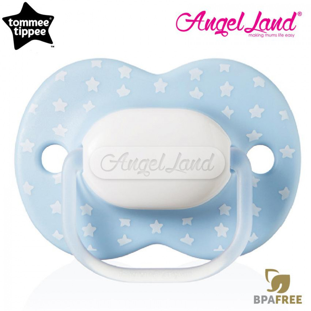Tommee Tippee Little London Soother 0-6m (Single) 433410/38 Light Blue Star