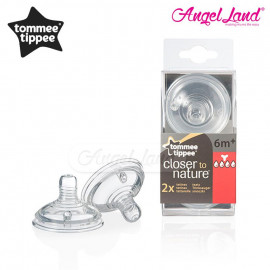 image of Tommee Tippee Closer To Nature Teat (2pcs/pack) Y Thick Flow - 422142/38