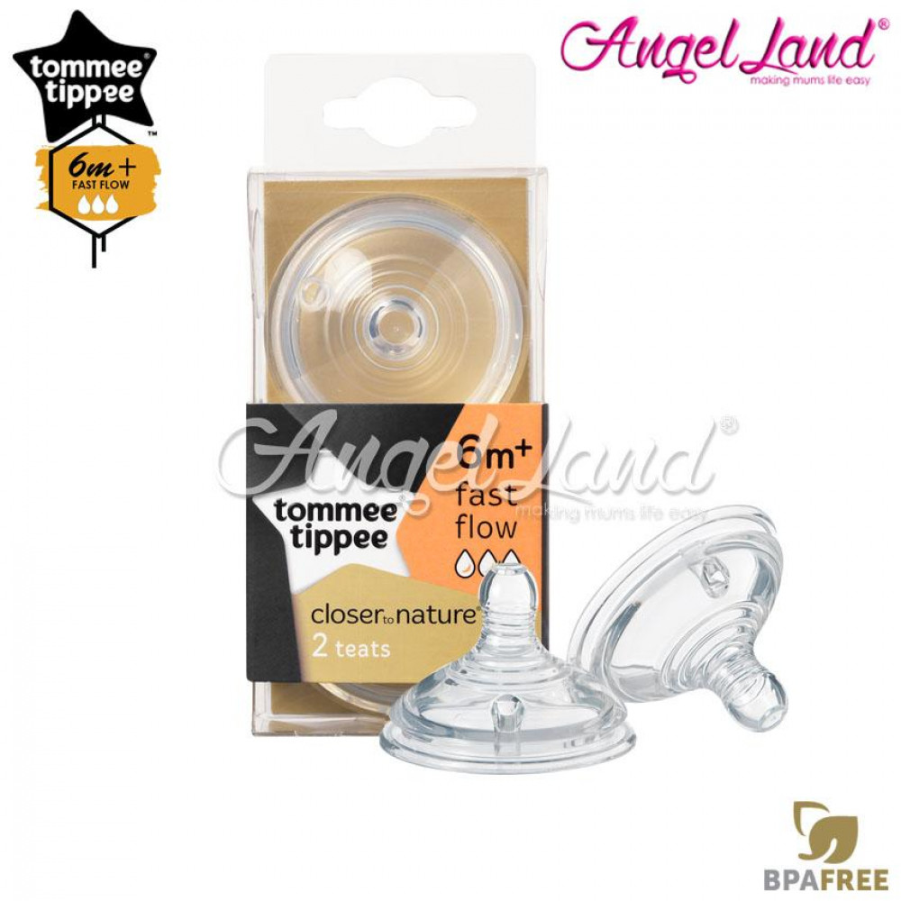 Tommee Tippee Closer To Nature Teat (2pcs/pack) Fast Flow - 421124/38