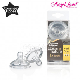 image of Tommee Tippee Closer To Nature Teat (2pcs/pack) Vari Flow - 422140/38