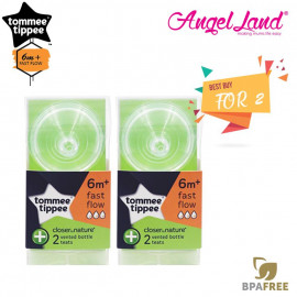 image of [Best Price for 2x] Tommee Tippee Closer to Nature Anti-Colic Teat Fast Flow