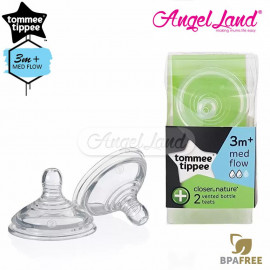 image of Tommee Tippee Closer to Nature Anti-Colic Teat (2pcs/pack) Medium Teat