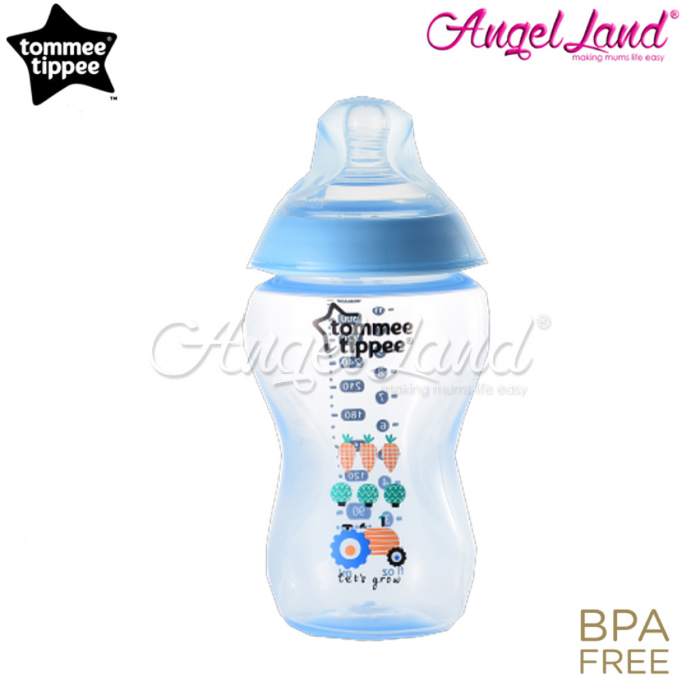 Tommee Tippee Closer to Nature Tinted Bottle 340ML/12OZ Blue