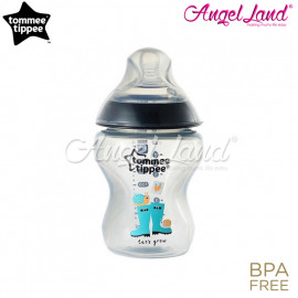 image of Tommee Tippee Closer To Nature (260ml/9oz) Tinted Bottle Design Single Pack 422575 Black