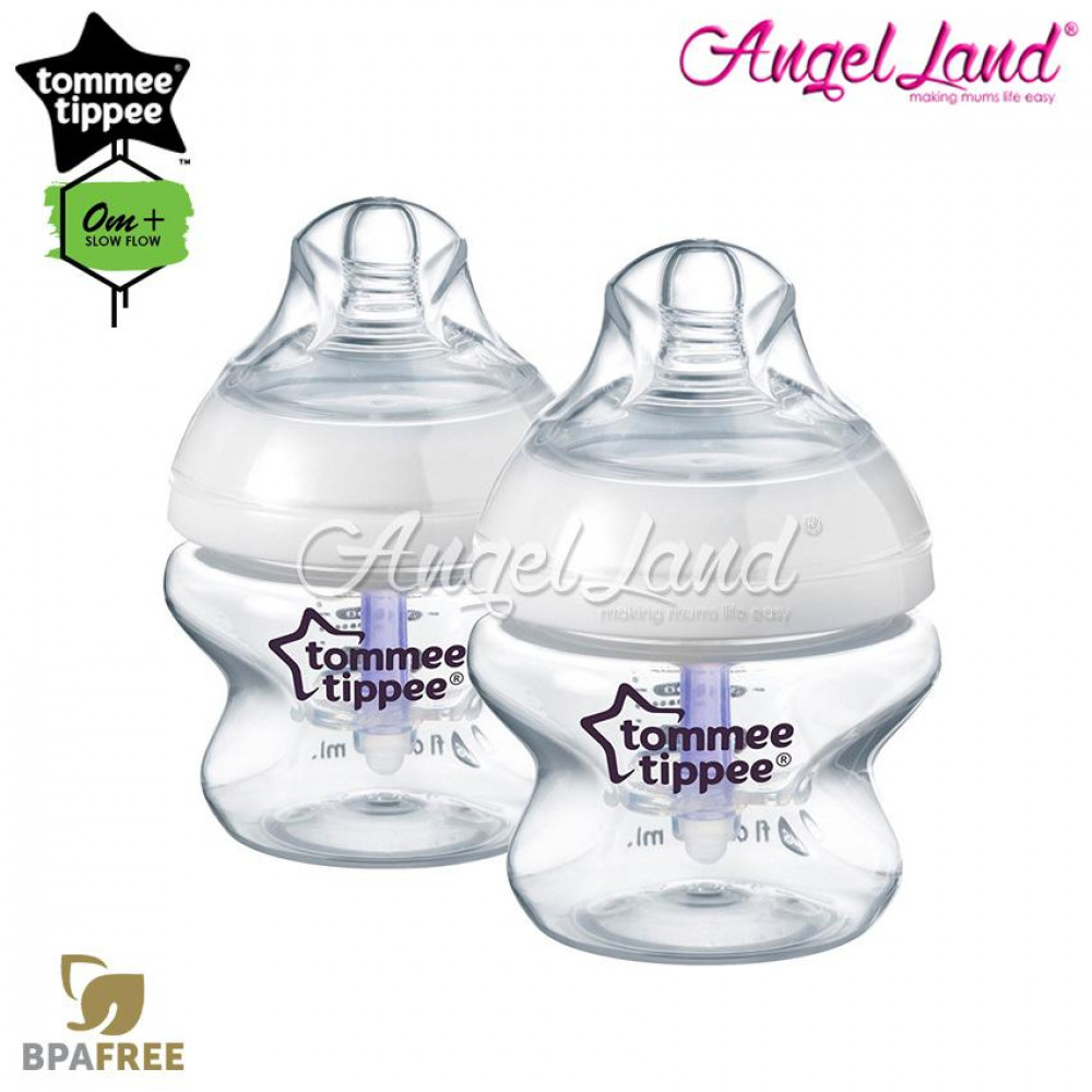 Tommee Tippee Closer To Nature Pp Anti Colic Plus Bottle 150ml/5oz Single Pack - 422405/38 (2 PACK)