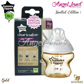 image of Tommee Tippee Closer To Nature Tinted Bottle 150ml/5oz - Gold