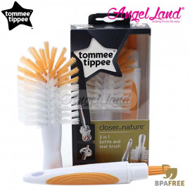 image of Tommee Tippee Closer To Nature 2in1 Bottle & Teat Brush - 421116/38
