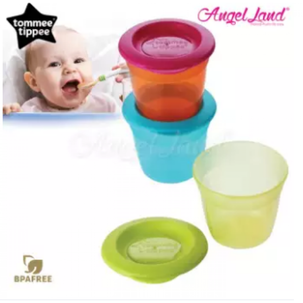 Tommee Tippee Essential Food Pots Pack of 3 - 430454/38