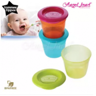 image of Tommee Tippee Essential Food Pots Pack of 3 - 430454/38