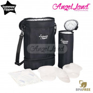image of Tommee Tippee Closer To Nature Twin Bottle Insulated Carrier Black-430027/38