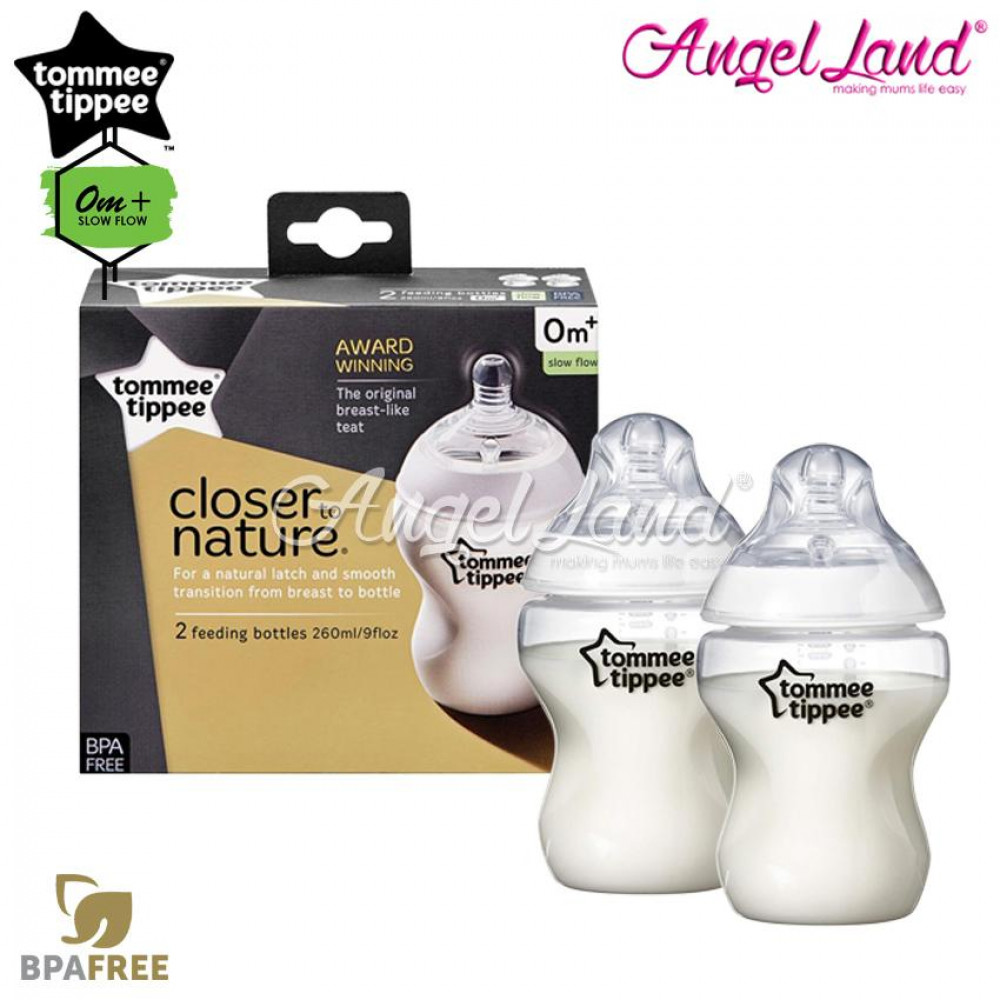 Tommee Tippee Closer To Nature Bottle 260ml/9oz Twin Pack Bottle 422112/38