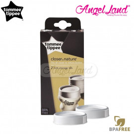 image of Tommee Tippee Closer to Nature Milk Storage Lids - 431361/38