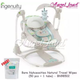 image of Ingenuity ConvertMe Swing-2-Seat™ - Hamilton (BBBS10839) + Free Bare Nuhcessities Natural Travel Wipes (50 pcs + 1 tube)