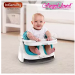 Ingenuity Baby Base 2-in-1 With Gray Bottom + Free Baby Cotton Bib (random)- Slate 10869