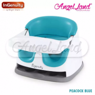 image of Ingenuity 2 in 1 Baby Base – Latest Edition 2018 -  Peacock Blue 11247