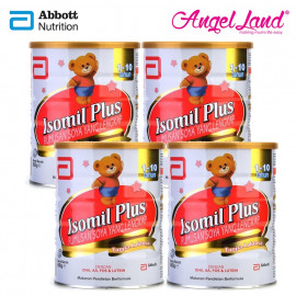 image of Abbott Isomil Plus Rumusan Soya (1-10years) 850g (4 tins)