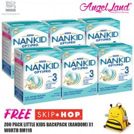 image of NANKID OPTIPRO 3 Milk 1-3 Yrs (1.3kg x 6) [Free Skiphop Backpacks Random X1]