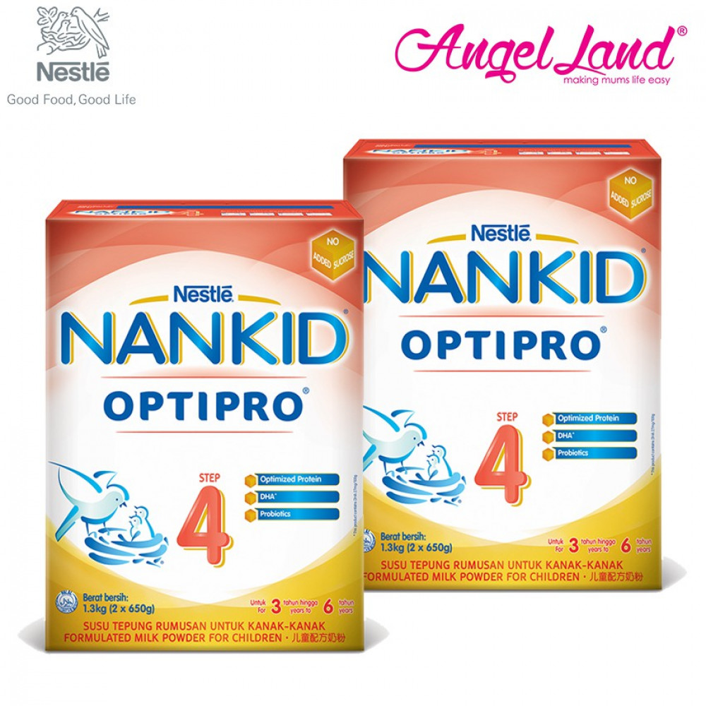 NANKID OPTIPRO 4 Milk 3-6 Yrs (1.3kg x 2 Packs)