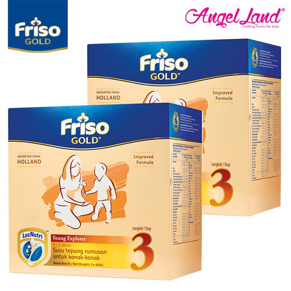 Friso Gold Young Explorer Step 3 Milk Powder (1+years) 400gx3 (2 packs)