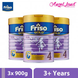 image of Friso Gold Bright Star Milk Powder Step 4 (3+ years) 900g x 3 tins