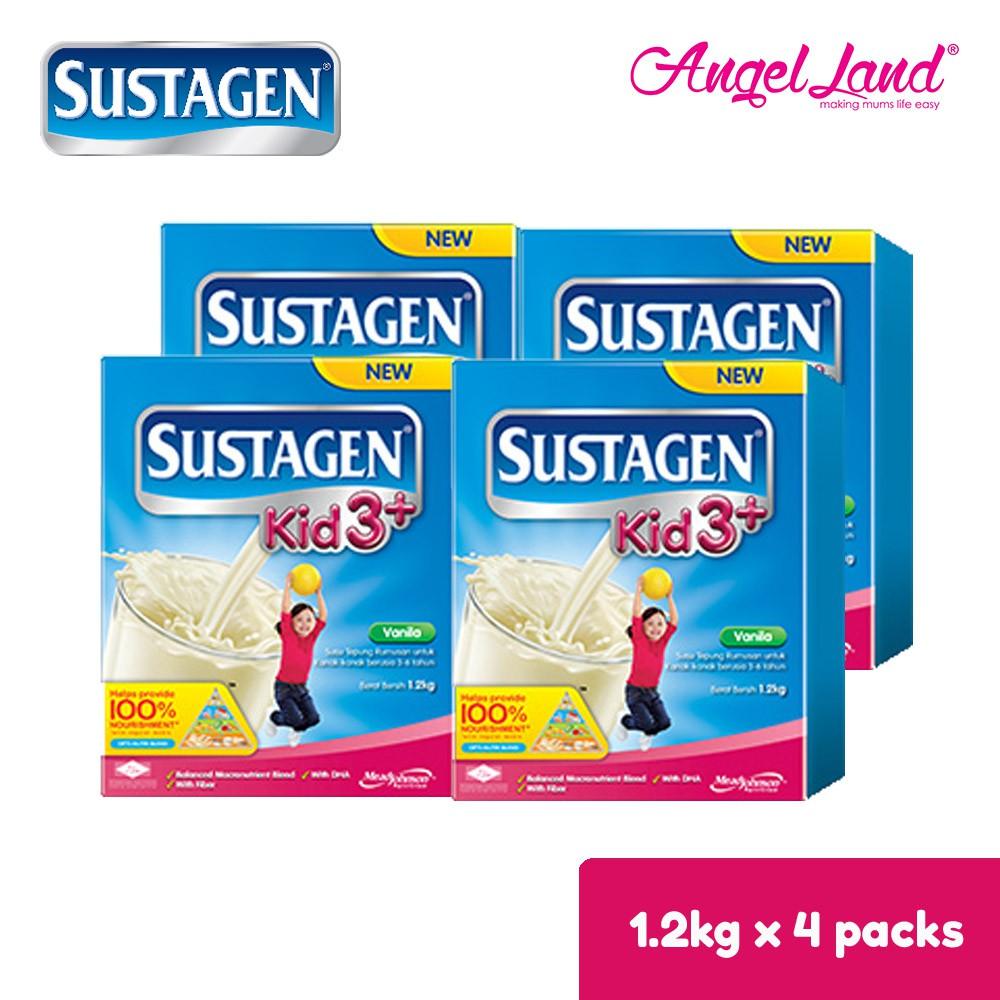 Sustagen Kid 3+ Milk Powder (3-6yrs) 1.2kg X4