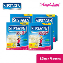 image of Sustagen Kid 3+ Milk Powder (3-6yrs) 1.2kg X4