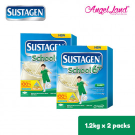 image of Sustagen School 6+ Milk Powder (6 Years+) 1.2kg X2 [FOC Stainless Steel Bottle]