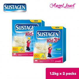 image of Sustagen Kid 3+ Milk Powder (3-6years) 1.2kg x2 [FOC Stainless Steel Bottle]