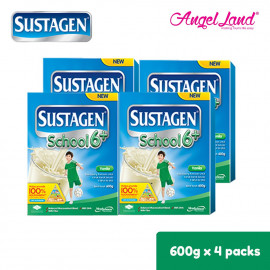 image of Sustagen School 6+ Milk Powder (6 years+) 600g x4 [FOC Stainless Steel Bottle]