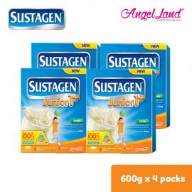 image of Sustagen Junior1+ Milk Powder (1-3years) 600g x4 [FOC Stainless Steel Bottle]