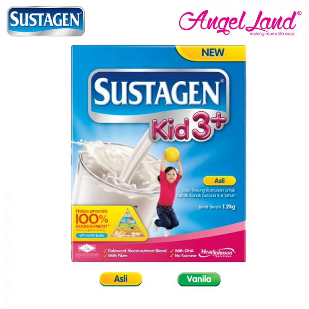 Sustagen Kid 3+ Milk Powder (3-6years) 1.2kg - Original/Vanilla