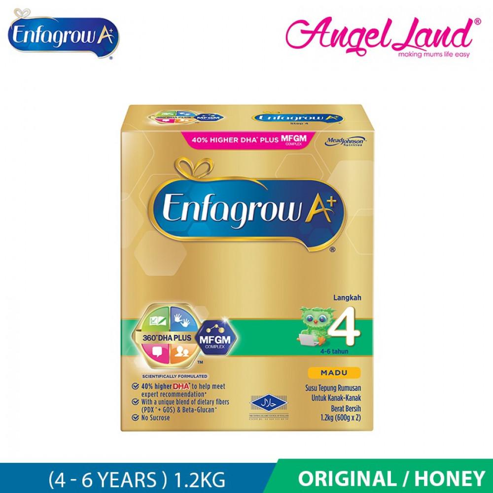 Enfagrow A+ Step 4 (4 - 6 years)  MFGM Milk 1.2kg (Original/Honey)