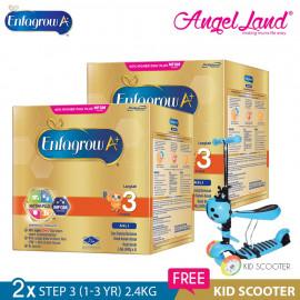 image of Enfagrow A+ Step 3 Milk (1-3years) 2.4kg x2 [FOC Kid Scooter Random Color]